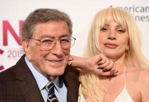Tony Bennett and Lady Gaga attend Billboard Women In Music 2015.
