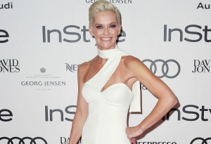 Jessica Rowe arrives at the 2015 Women of Style Awards.