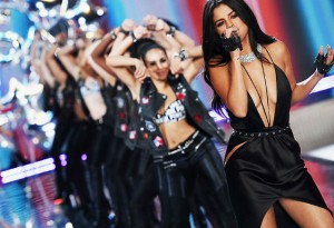 Selena Gomez at the Victoria's Secret fashion show.