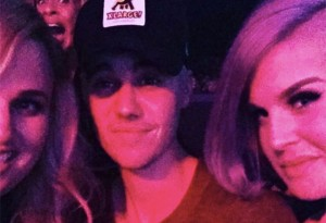 Justin Bieber, Rebel Wilson, and Kelly Osbourne in a picture together.
