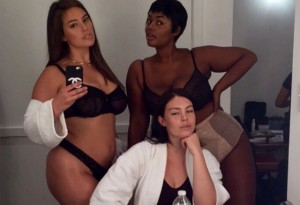 Ashley Graham, Georgia Pratt, and Precious Lee.
