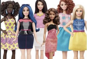 Barbie's new look.
