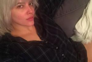 Denise Bidot's makeup-free selfie.