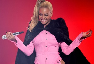 Beyonce performs onstage during TIDAL.