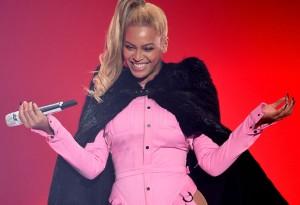Beyonce performs onstage during TIDAL.