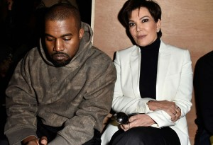 Kanye West and Kris Jenner attend the Givenchy show as part of the Paris Fashion Week Womenswear Fall/Winter 2016/2017 on March 6, 2016 in Paris, France. (Photo by Pascal Le Segretain/Getty Images)