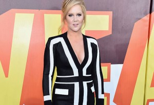 LOS ANGELES, CA - APRIL 12:  Host Amy Schumer attends The 2015 MTV Movie Awards at Nokia Theatre L.A. Live on April 12, 2015 in Los Angeles, California.  (Photo by Alberto E. Rodriguez/Getty Images for MTV)