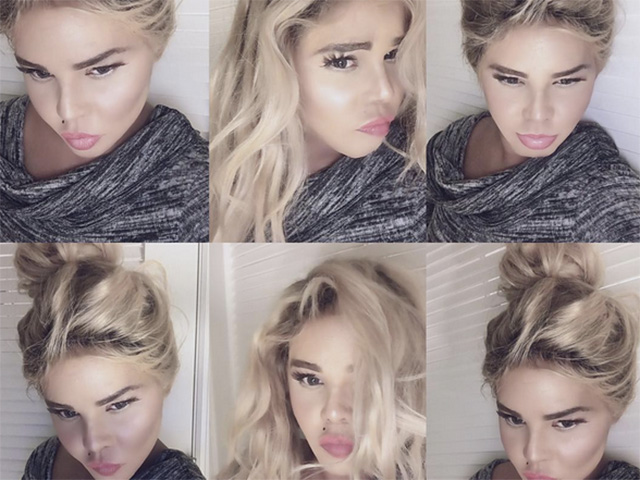 Lil' Kim shocks with blonde hair, pale complexion -